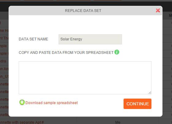 Replace Data Set