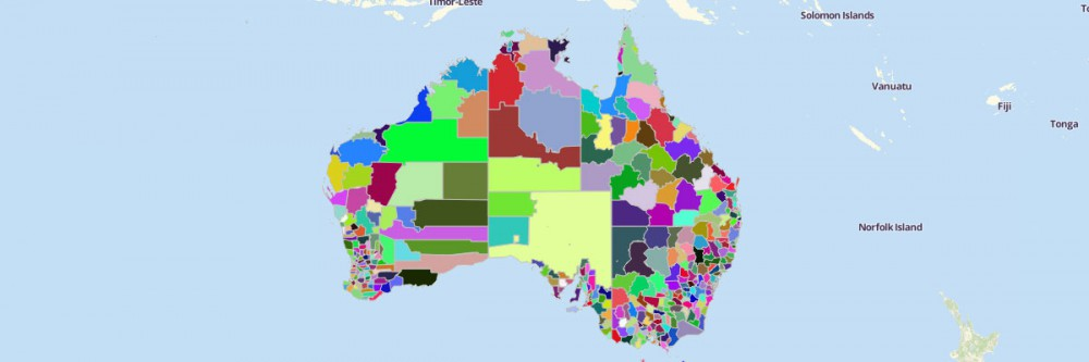 Australia Local Government Areas Map