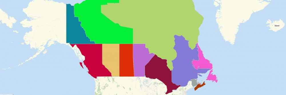 Map of Canada Provinces