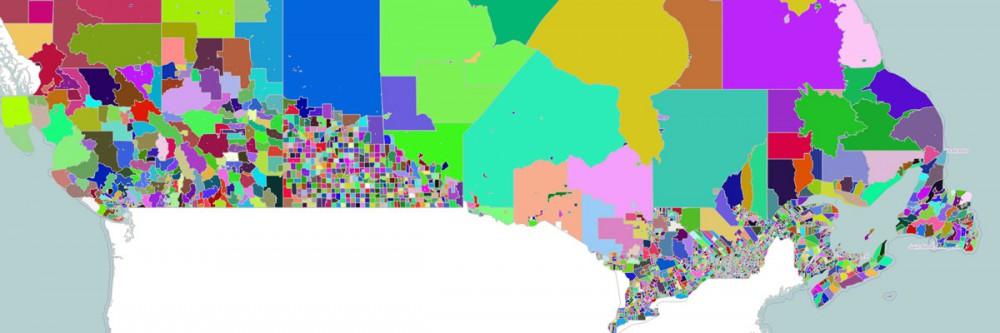 Canada Census Subdivisions Map