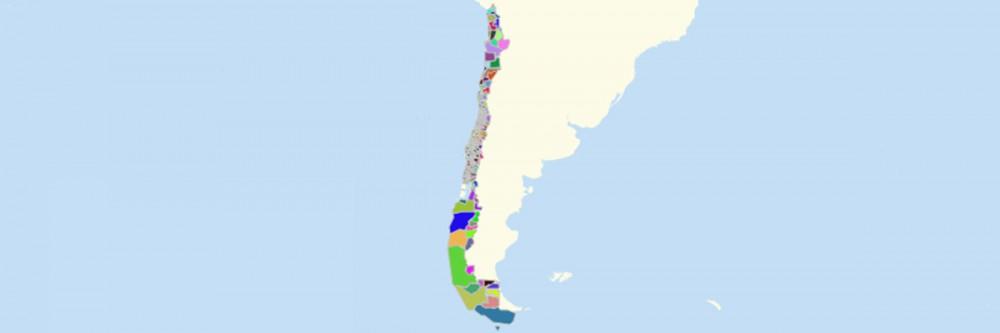 Chile Comunas Map