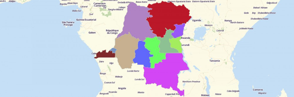 Map of Democratic Republic of Congo Provinces