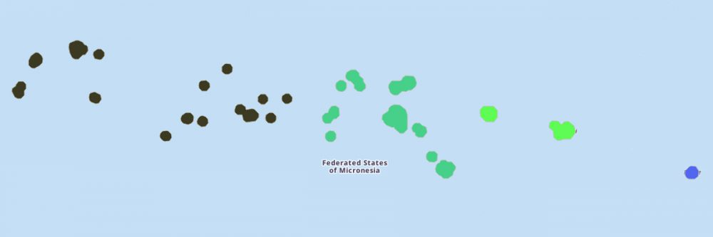 Federated States of Micronesia Map