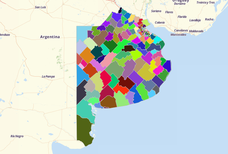 Argentina Partidos - Buenos Aires Province