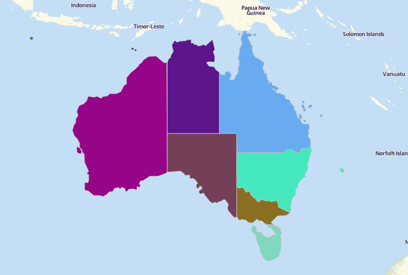 Australia States and Territories