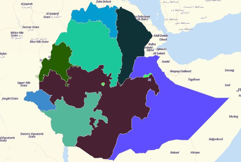 map territories for ethiopia