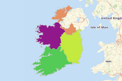 Map Territories For Ireland - Ireland provinces map