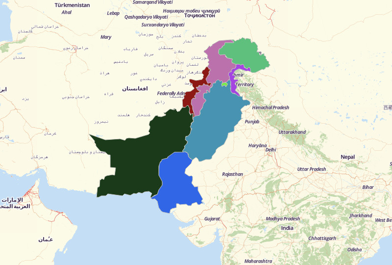 Pakistan Territories