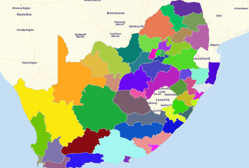 South Africa Districts
