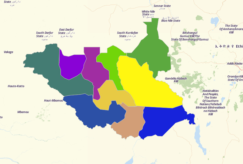 South Sudan Territories