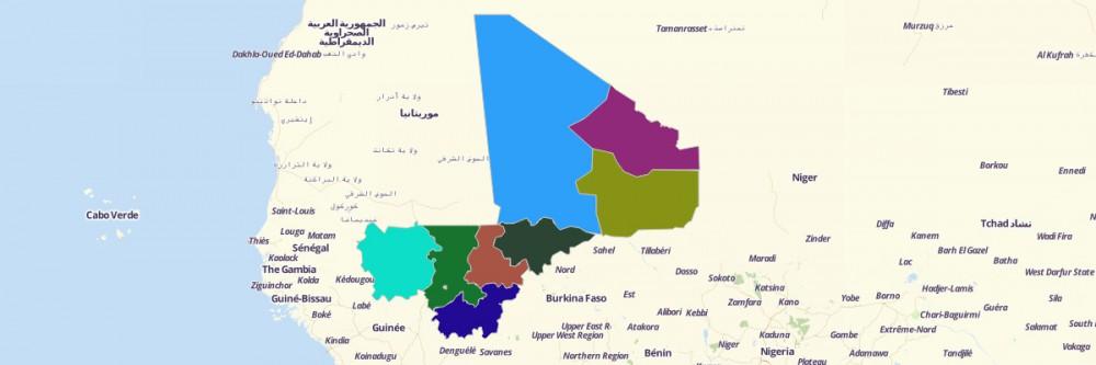 Map of Mali Regions