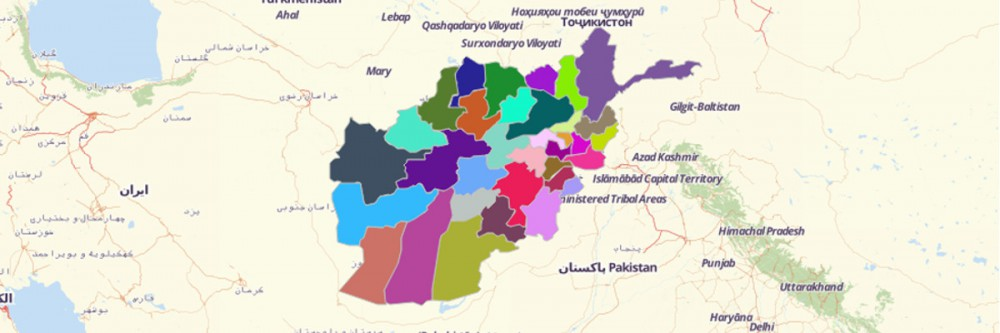 Map of Afghanistan Provinces