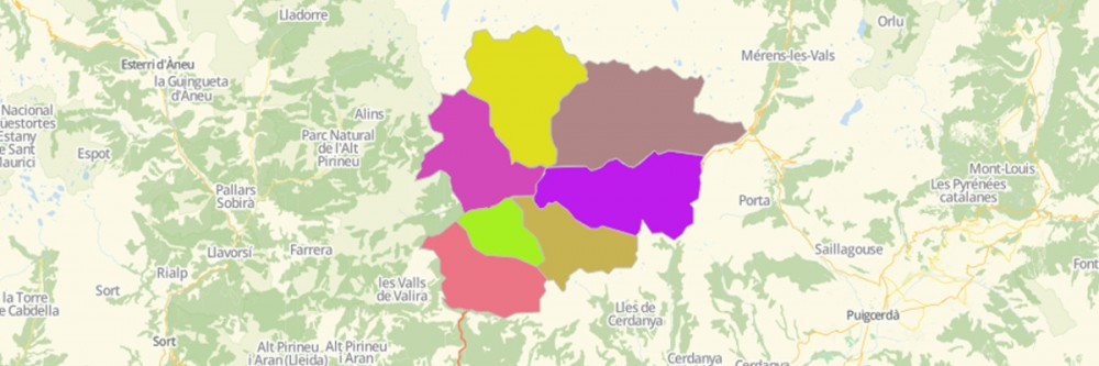 Map of Andorra Parishes