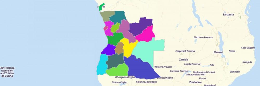 Map Of Angola Provinces Mapline - Angola provinces map