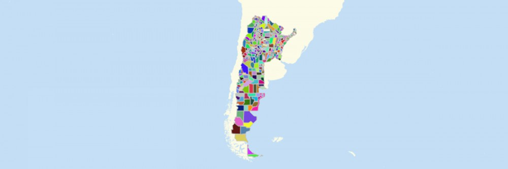 Map of Argentina Departments