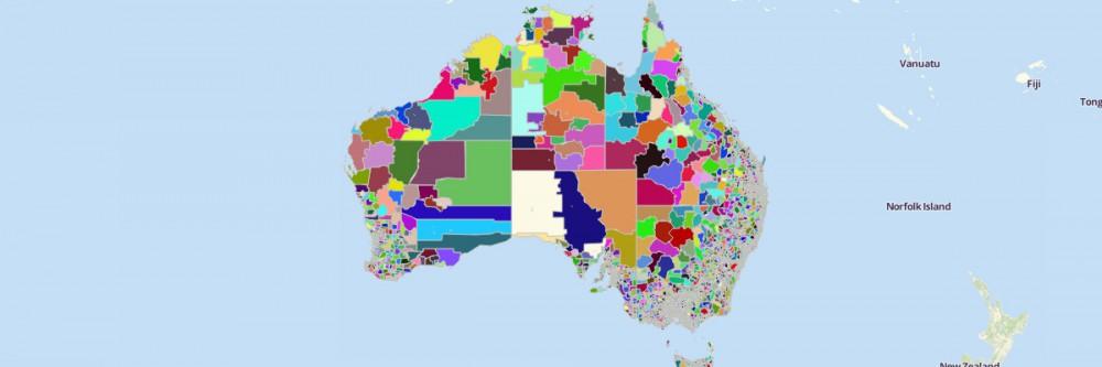 Map of Australian Suburbs
