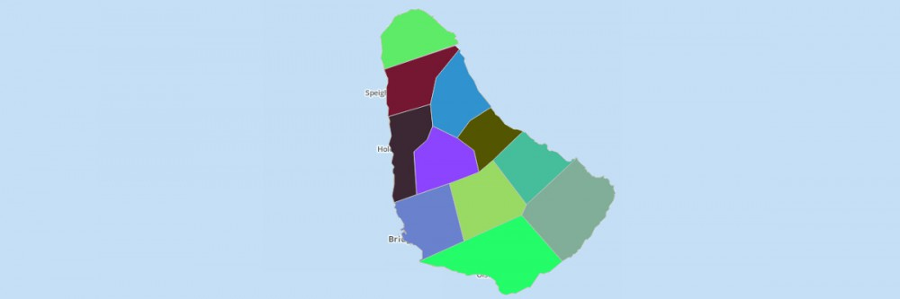 Map of Barbados Parishes