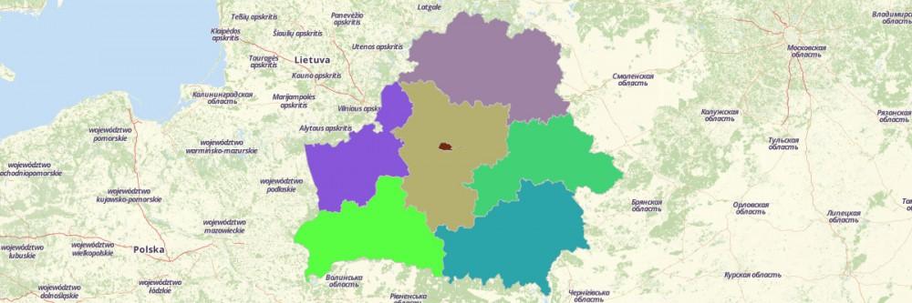 Map of Belarus Regions