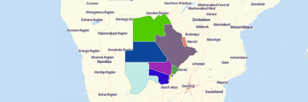 Map of Botswana Districts