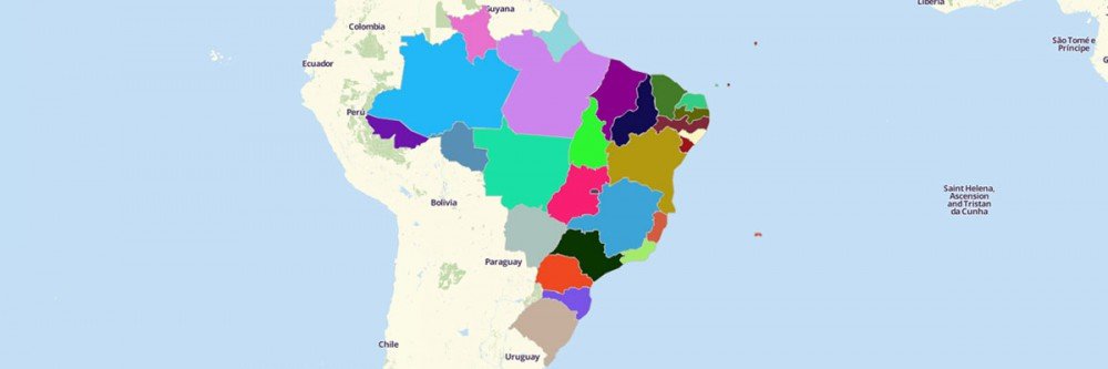 Map of Brazil States