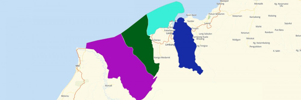 Map of Brunei Districts