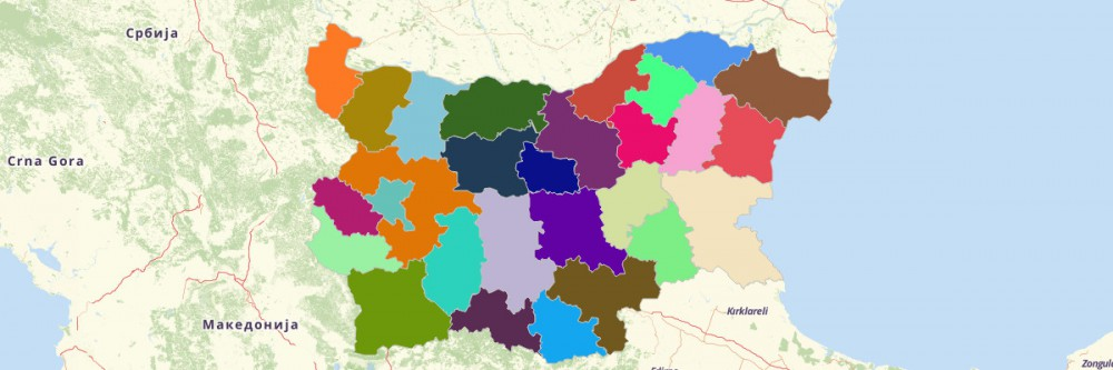 Map of Bulgaria Provinces