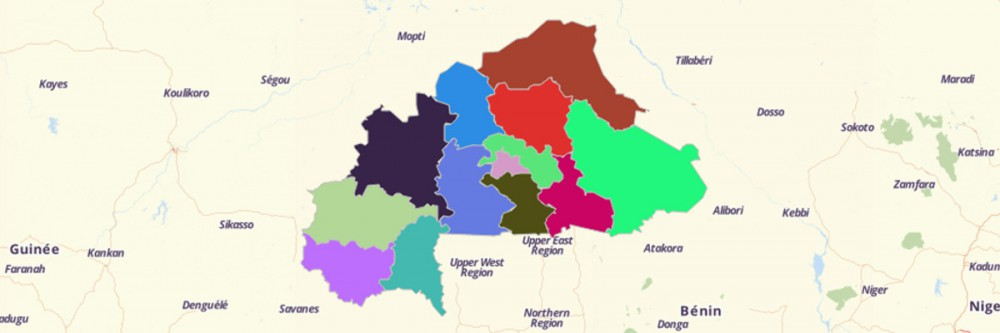 Map of Burkina Faso Regions