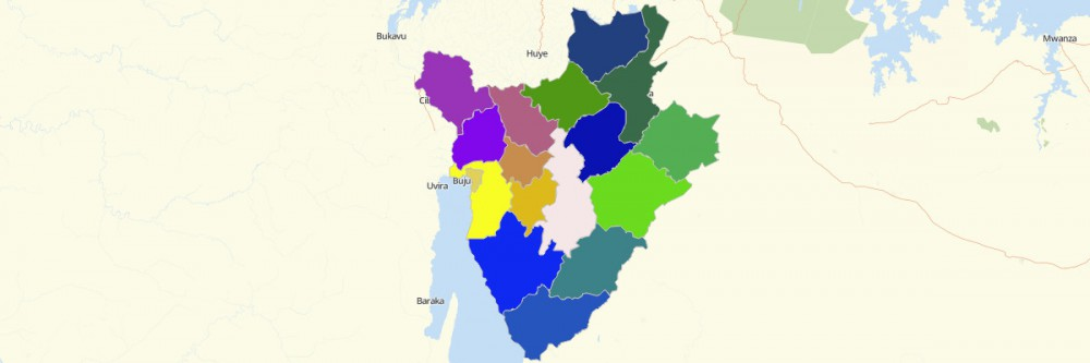 Map of Burundi Provinces