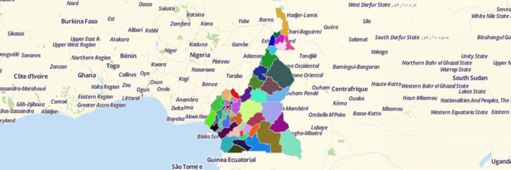 Map of Cameroon Departments