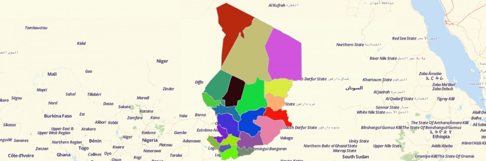 Map of Chad Regions