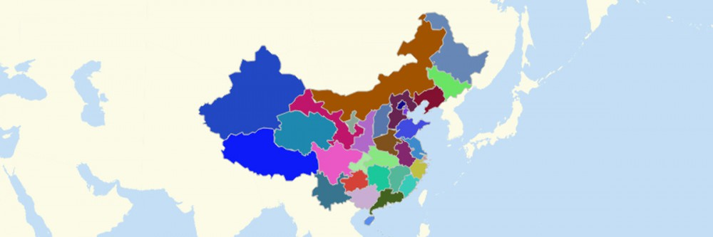 Map of China Provinces