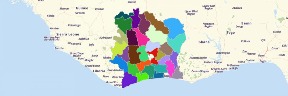 When Cote DIvoire Regions Map Is Needed Go To Mapline - Cote d'ivoire map