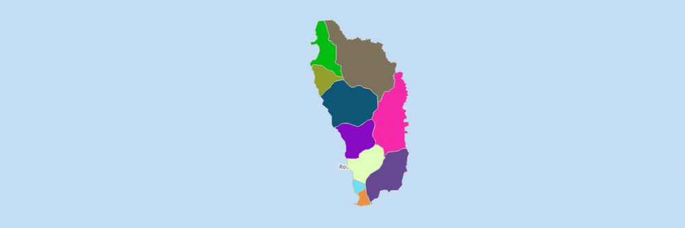 Map of Dominica Parishes