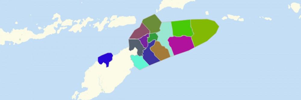 Map of East Timor Municipalities