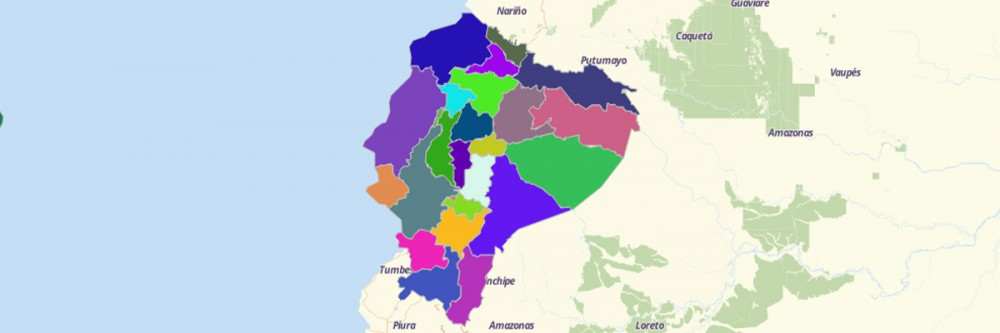 Map of Ecuador Provinces