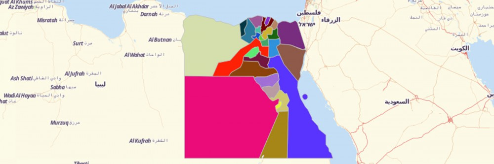 Governorates of Egypt Map