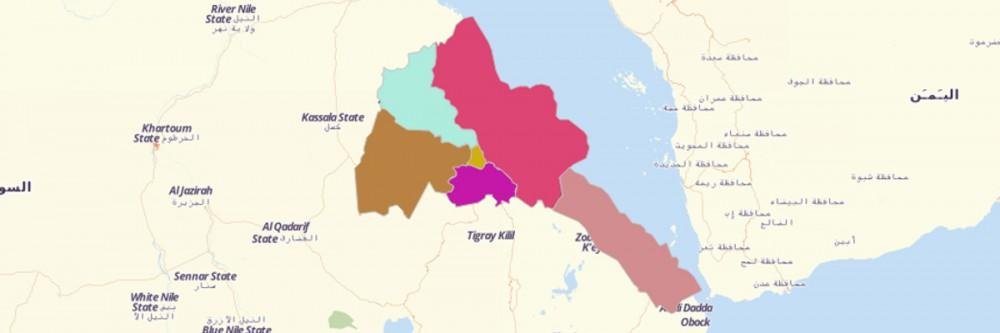 Map of Eritrea Regions