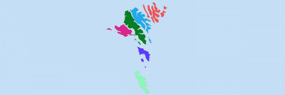 Map of Faroe Islands Regions