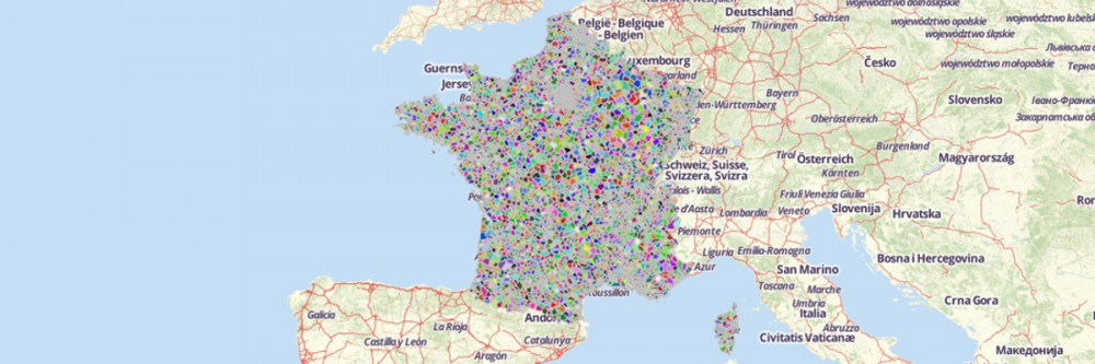 Map of France Postal Codes
