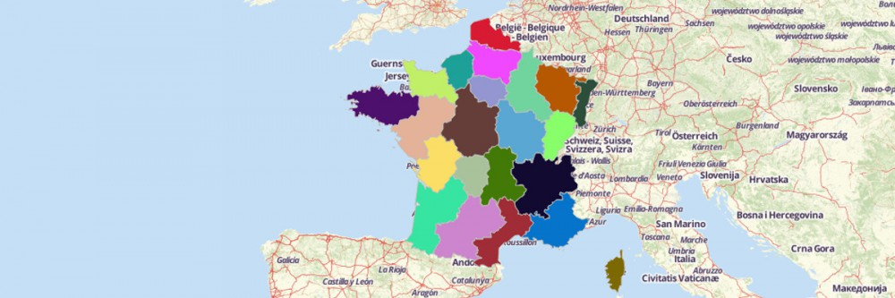 Map of France Regions Mapline