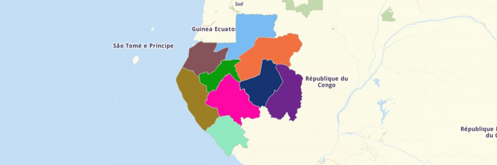 Map of Gabon Provinces