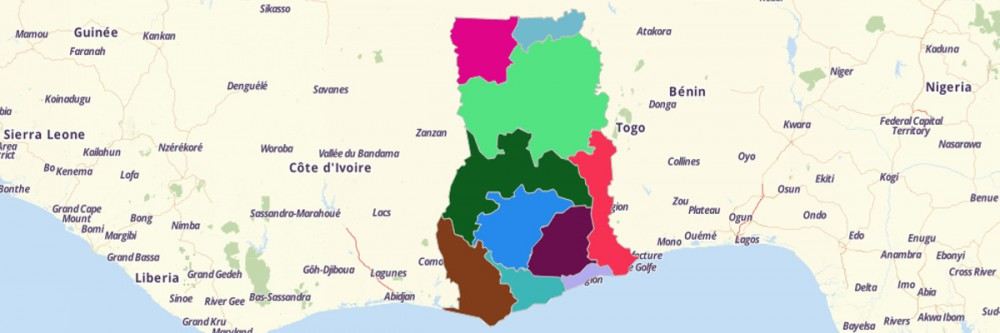Of Ghana Regions - Map of ghana