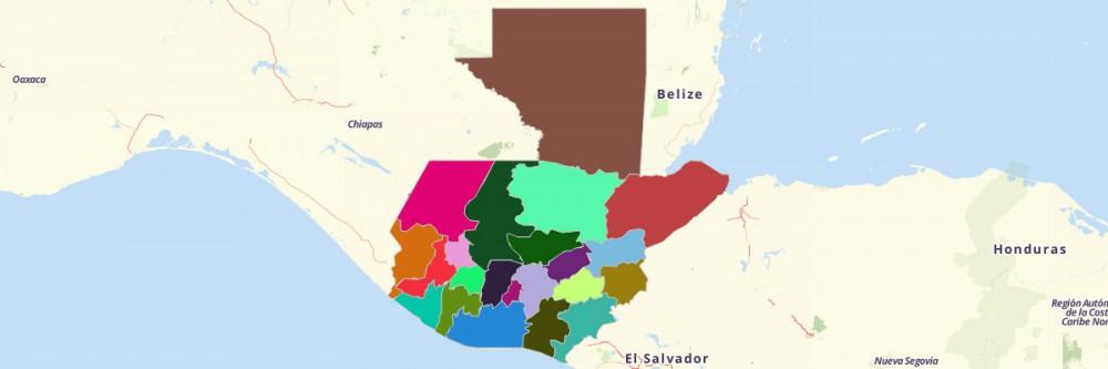 Map Of Guatemala Departments Mapline - Departments map of guatemala