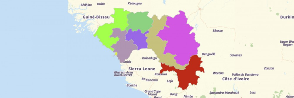 Map of Guinea Regions