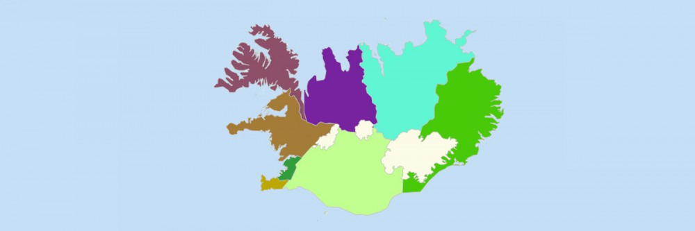 Map of Iceland Regions