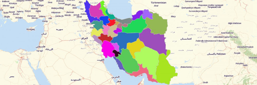 Map of Iran Provinces