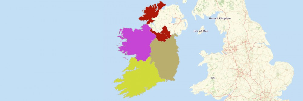 Map of Ireland Provinces