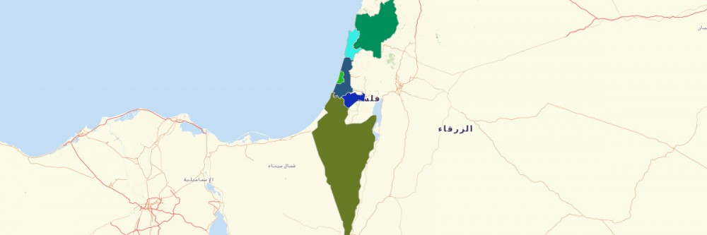 Of Israel Districts - Isreal map
