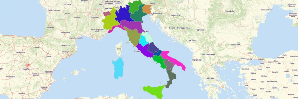 Create A Map Of Italy Regions Mapline - Italy map regions