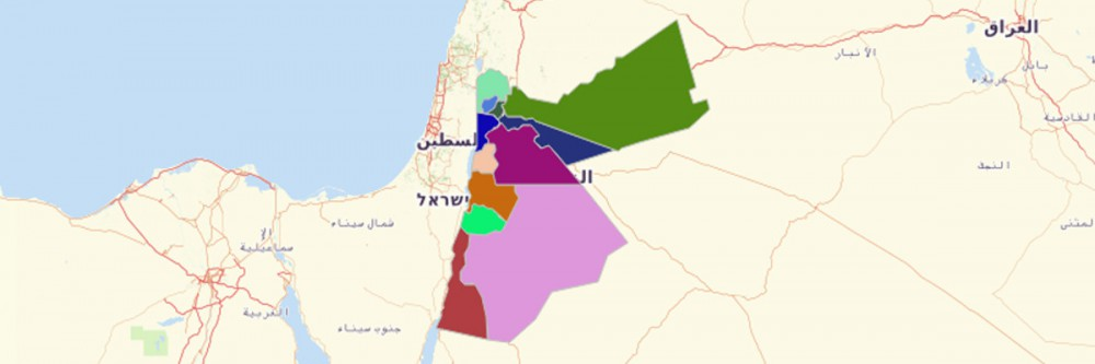 Map of Jordan Governorates